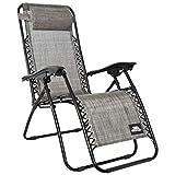 Trespass Glenesk Reclining Garden Chair with Padded Head Pillow (Grey)
