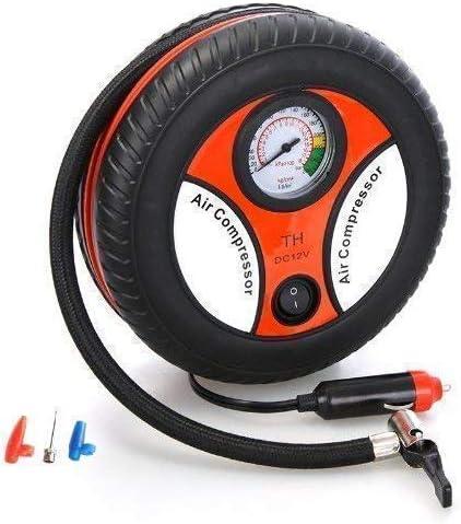 FLOWMEX Portable Electric Mini DC 12V Air Compressor Pump for Car & Bike Tyre Tire Inflator Pump for Car and Bike Tyr...