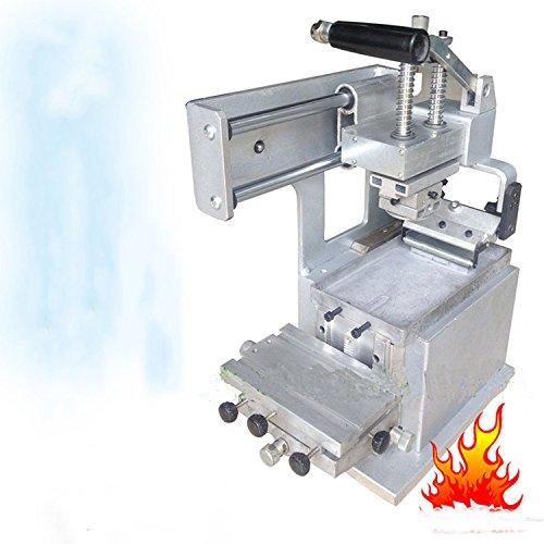 MABELSTAR Machine à tamponner manuelle JYS100-150 Kit de démarrage : Pad Printer + tampons en caoutchouc + 2 matrices de plaque personnalisées