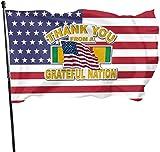 anemone store Amerikanische Fuß-Flagge der Fliegen-Brisen-3x5 - Militärdank von Einer dankbaren Nation Vietnam gestanzt