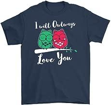 Cute Owl Shirt I Will Owlways Love You Gildan Mens T-Shirt (5XL Gildan Mens T-Shirt Navy)