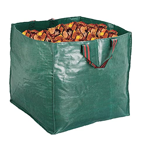 Artillen Garden Bags,Reusable Yard Leaf Bag 71 Gallon Heavy Duty Gardening Lawn Pool Waste Collector Container 1 x large 270L Gartenmüllbeutel (65 X 65cm) (270 L)