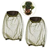 BaiJ Mosquitera para Cabeza,2 Pack Apicultor Anti-Mosquito Mosquito Cabeza Head Net Red de Cabeza de Insecto para Protección de la Cara Pesca Al Aire Libre Camping Senderismo