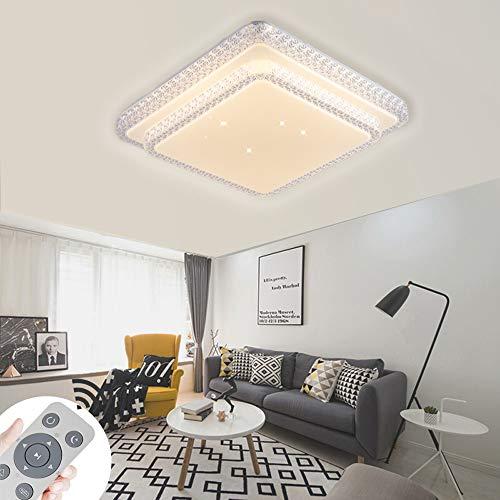 ZPRIO 80W LED Plafón Regulable,Plafón Cristal Cielo Estrellado Para Recibidor,Salón,Cocina,Lámpara Moderna,Luz De...