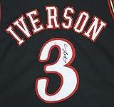 Allen Iverson Philadelphia 76ers Signed Autographed Black #3 Custom Jersey PAAS COA