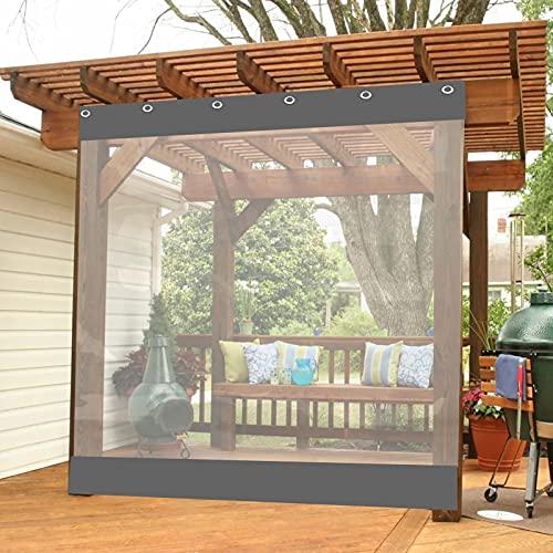 AWSAD Tende da Esterno Pannelli Laterali per Gazebo da Giardino Tenda da Balcone in Plastica Teloni Impermeabili Occhiellati per Padiglioni,Terrazze,Serre (Color : Gris, Size : 3.5x2.5m)