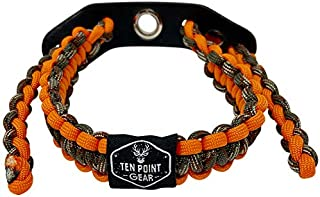 Ten Point Gear Bow Archery Wrist Sling 550 Paracord - Survival Hunting Shooting - Durable Leather with Metal Grommet (Multiple Camo Options)