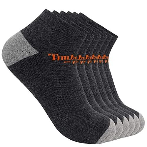 Timberland PRO Herren 6-Pack Low Cut Ankle Socks Sneakersocken, Charcoal Heather, Large