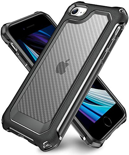 iPhone 6S Case, iPhone 6 Case with [ Screen Protector Tempered Glass x2Pack] SUPBEC Protective Phone Cover with Silicone PC+TPU Shockproof Rubber Heavy Duty Case for iPhone6 / iPhone6S-Clear Black