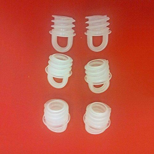 Easy-Shadow - 6 Stück Hochwertige Endstopfen / Verschlußstopfen für 16 mm Bohrlöcher Gardinen-Stopper Abschluss passend für Gardinenschienen Vorhangschienen Gardinenbretter Gardinen Laufschienen Deckenleiste - transparent