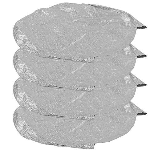 Socobeta Cubierta de Rueda, Protector de neumáticos Anti-UV Impermeable 4 Piezas Forro de Lana de algodón Grueso Fácil de Instalar para camionetas SUV RVs para Polvo e(27-29 Feet)