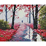 HUINXVEU Boardwalk Scenery Digital Oil Painting for Kit   for Kids Adult on Canvas Wall Art Oil Digital Painting Gift Set 40x50cm Sin Marco