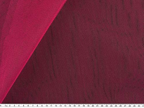 Feinmaschiger tulle, fushia nylon env. 150 cm