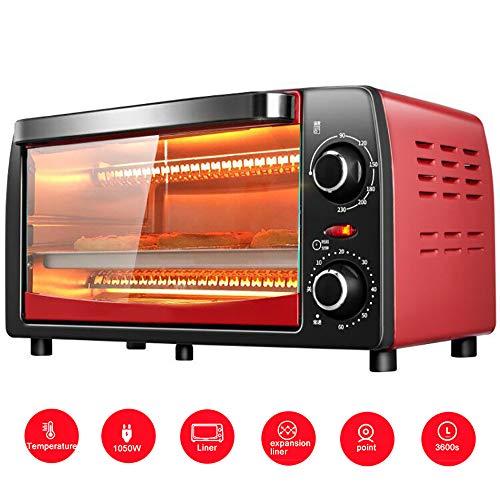 LJYLJY 1050 W Backofen Mikrowelle Obsttrockner, 60 Minuten PräZises Timing, 90-230 ° Temperatureinstellung, Zweischichtiges Design, Versteckte Temperaturerfassung, 12 L, Haushalt,Red