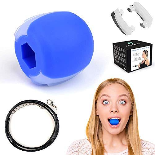 HOOMAGIC Ejercitar la MandíBula Tónico Facial Ejercitador De Mandíbula y Equipo de Tonificación de Cuello Tonificador Facial Ayuda a Reducir el EstréS y Los Antojos