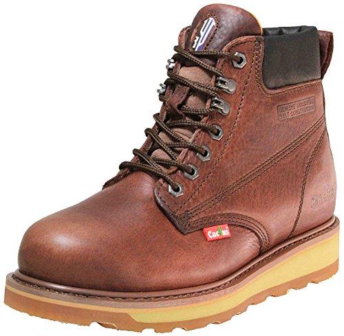 Cactus Work Boots 6723 Dark Brown Size 9