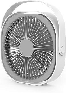 KKmoon Ventilador de escritorio mini Ventilador eléctrico USB recargable Portátil Enfriador de aire 6 pulgadas 3 velocidades Velocidad Clip oculto 2000mAh Ángulo ajustable Uso silencioso