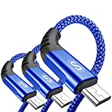 Micro USB Cable Android Charger 3Pack(10ft+6.6ft+3.3ft) AviBrex Micro USB Cable Android Charger Cord High Speed Nylon Braided Cord for Samsung Galaxy S7 S6 J7 Edge Note 5,Kindle,MP3 and More-Blue
