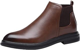 Bottes occidentales à la Mode pour Hommes Chaussures décontractées Confortables à Talons Bas Chaussures de Costume Montant...