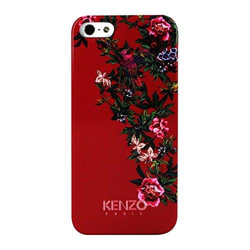 Kenzo Exotique Coque rigide en PVC pour iPhone 5 Rouge avec Fleur
