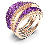 Anillo Twist Wrap Swarovski chapado en oro rosa 5572720