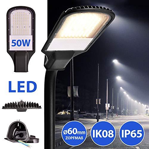LED Straßenlampe Straßenleuchte Straßenlaterne Straßenbeleuchtung Parkplatzbeleuchtung Hochleuchte 50W 4000K neutralweiß IP65 4500lm