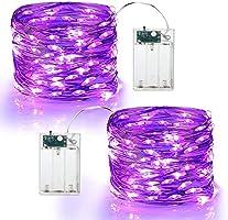 Halloween Decor String Lights,BrizLabs 10M 100LED Color Changing String Lights USB Powered 16 Multi Indoor Wink Silver...