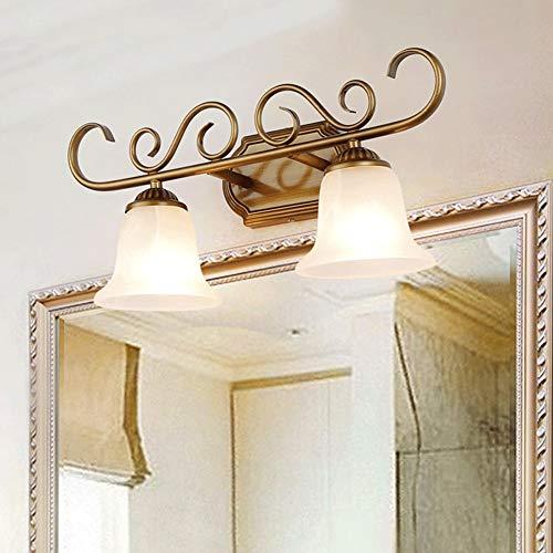 Lamp voor spiegel, LED-badkamer, spiegelkast, retro-plaster make-up licht, ijzer-kunst-wandlamp, eenvoudig te installeren, E14