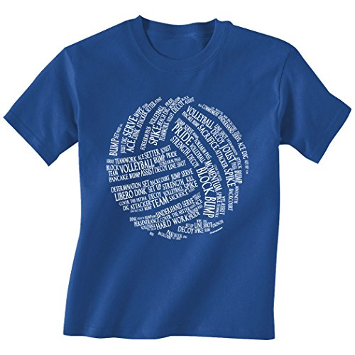 Volleyball Words T-Shirt | Volleyball Tees by ChalkTalk Sports | Royal | Adult Large