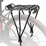 Portaequipajes Bicicletas,Portaequipajes De Aluminio para El Asiento Trasero,Portaequipajes para Bicicletas Adecuado para 24'/ 26' / 28'Capacidad De Carga Máxima 25 Kg