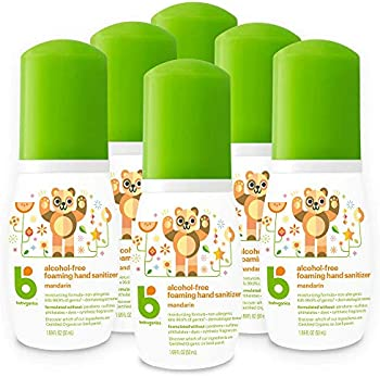 6-Pack Babyganics Alcohol-Free Foaming Hand Sanitizer, 1.69 oz