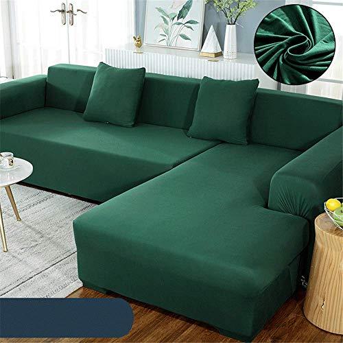 GAOZHEN Funda de sofá Simple de poliéster de Color sólido, Funda de Chaise Longue en Forma de L Universal Four Seasons Todo Incluido