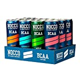 NOCCO BCAA Variety Pack 12 x 12 Fl Oz Carbonated, ZERO Sugar, Low Calorie, Ready to drink BCAA...