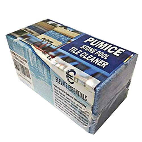 Elevate Essentials Pumice Stone for Pool Tile Cleaning Block, Concrete Spa Cleaning, Best Pool Stain Remover, Natural Pumice Stone, Ceramic Tile Cleaner Block, Blue (1)