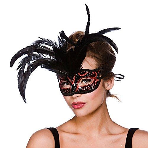 Milano Eyemask - Black / Red