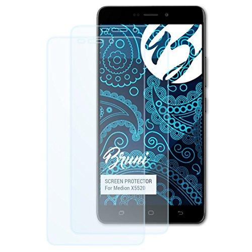 Bruni Schutzfolie kompatibel mit Medion X5520 Folie, glasklare Bildschirmschutzfolie (2X)