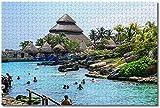 MX-XXUOUO Rompecabezas - Mexico Xcaret Playa del Carmen - 1000 Piezas , De Madera,Juguetes y Juegos Hechos a Mano