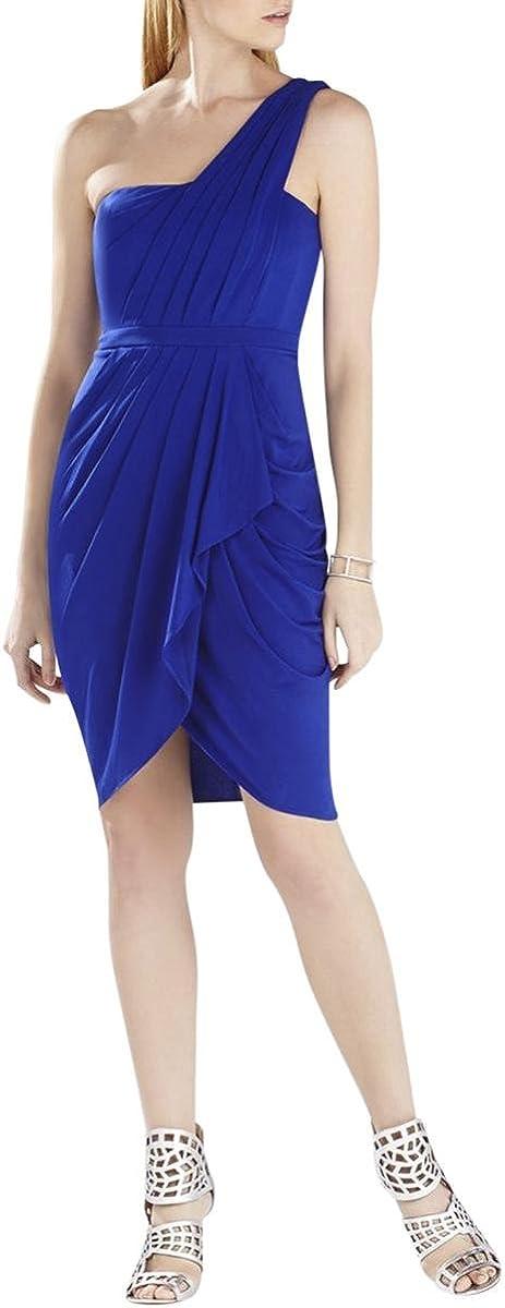 BCBGMAXAZRIA Women's Julieta One-Shoulder Ruched Dress