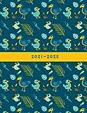 2021-2022: Week-View UK Academic Planner 2021-2022 / School Diary / 17x22cm / Pretty Dodo Birds, Eggs, & Feathers