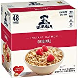 Made with heart healthy 100% whole grain Quaker Oats Good source of calcium, iron and 6 other essential vitamins and minerals Cooks in 90 seconds in the microwave
