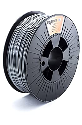 BASICFIL PET 1.75mm, 1 kg, 3D printing filament , Silver