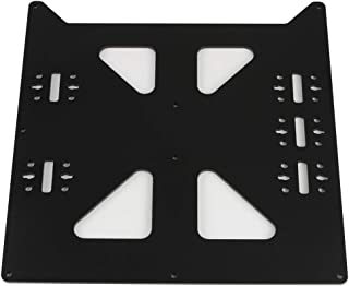 BCZAMD V2 Aluminum Y Carriage Plate Upgrade for Prusa i3 Style Heatbed Hotbed Reprap DIY 3D Printer Parts, Black
