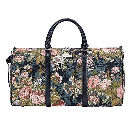 Tapisserie Siganre Grand Sac De Voyage Femme, Bagage à Main, Weekender, Grand Gym Bag