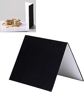 Meking レフ板 反射板 3-in-1 ライティング道具 商品撮影用 30x20cm A4サイズ 1枚で3色対応-銀/白/黒 補光/吸光/輪郭強調 縦式 折り畳み コンパクト