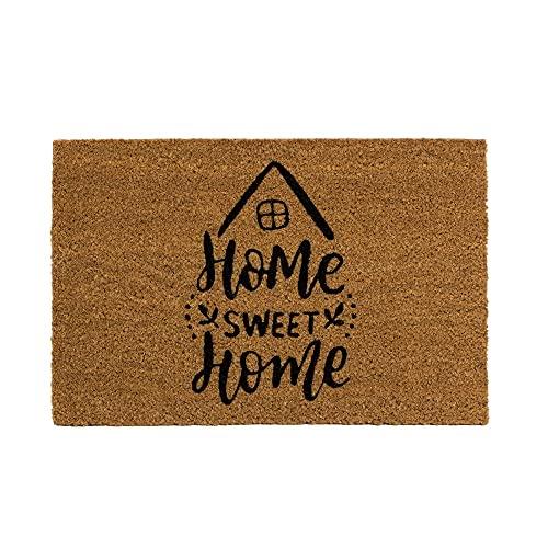 Felpudo de Coco Natural, felpudos Entrada casa, Alfombra Limpia Zapatos, Felpudo Exterior, Alfombra Entrada casa Interior, 60x40 (Sweet Home)