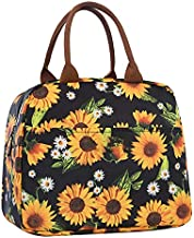 Lunch Bags for Women Insulated Lunch Box Cooler Tote Bag with Front Pocket Reusable Lunch Bag for Men Adults Girls Work Hiking Picnic - Sunflower