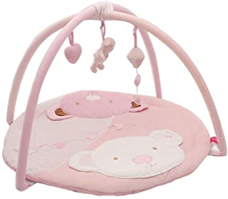 Toyvian Baby Gym Play Mat Kite Bear Pattern Activity Gym Crawling Rug for Baby Infant (Pink)