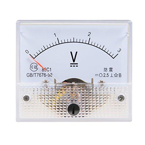 sourcing map DC 0-3V Analog Platte Spannung Messgerät Voltmeter 85C1 2,5% Fehlermarge