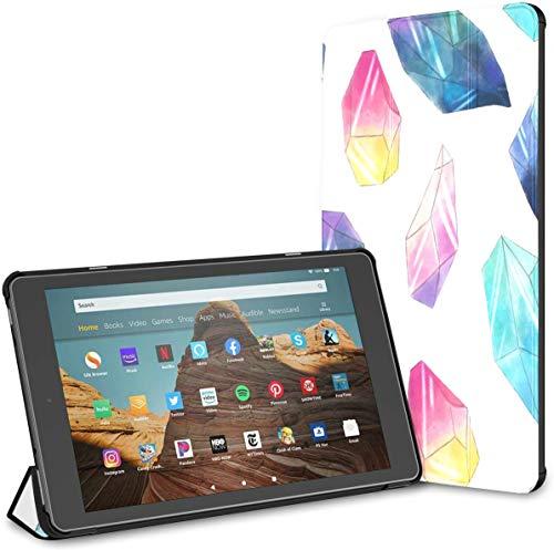 Estuche para Cristales Brillantes y Gemas Fire HD 10 Tablet (9.a / 7.a generación, versión 2019/2017) Estuche para Tableta Kindle Fire HD Tablet 10 Estuche Auto Wake/Sleep para Tableta de 10.1 pulg