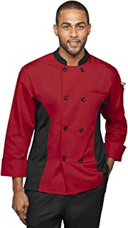 Men's 3/4 Sleeve Chef Coat with Mesh Side Panels (S-3X, 4 Colors)